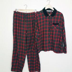 Victorias Secret Country Plaid Flannel Pajama